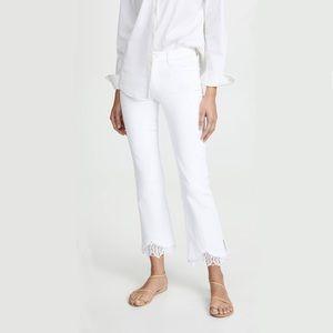 J BRAND Selena Mid Rise Crop Boot Lace Hem Jeans